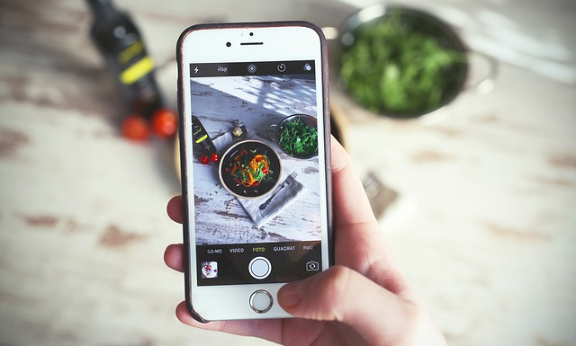iphone, cooking